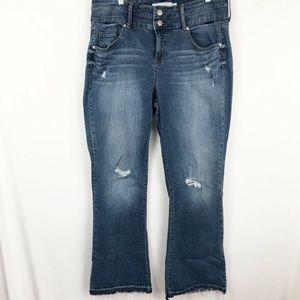 Torrid Women's Flare Jeans size 18 Ripped/Distress